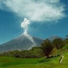 Santa Maria vulkaan Guatemala, zeer gevaarlijk en actief