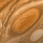 De rode vlek van planeet Jupiter