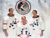 De bemanning van Apollo 15, Scott, Worden, Irvin / Bron: NASA / Wikimedia Commons