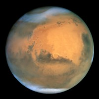 Mars / Bron: NASA and The Hubble Heritage Team, Wikimedia Commons (Publiek domein)