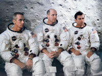 De bemanning van Apollo 10: Cernan, Stafford, Young / Bron: NASA, Wikimedia Commons (Publiek domein)