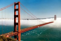 Golden Gate Bridge in San Francisco / Bron: David Ohmer, Wikimedia Commons (CC BY-2.0)