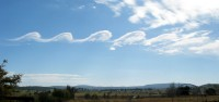 Kelvin-Helmholtz-wolken of Fluctuswolk / Bron: Grahamuk, Wikimedia Commons (CC BY-SA-3.0)